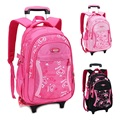 Children Trolley School Bag Backpack Wheeled School Bag For Grils Kids Wheel Schoolbag Student Backpacks Bags Free Shipping