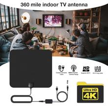 360 Miles Indoor HD Antena Digital Hdtv TV Antenna With Amplifier Signal Booster Radius Surf Fox