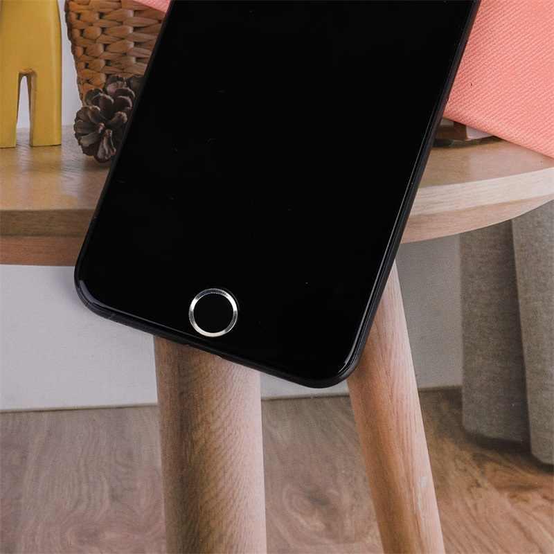 Phim hoạt hình Nhôm Cảm Ứng ID Sensor Home Nút Stickers Đối Với iPhone 5 S 5C SE 6 6 S 7 8 Cộng Với cho iPad không khí 2 mini 4 Vân Tay Bàn Phím