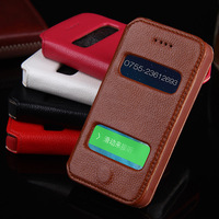 100 Retro Genuine Real Leather Dual Windows Phone Cover Coque Fundas Case Capa For Apple IPhone