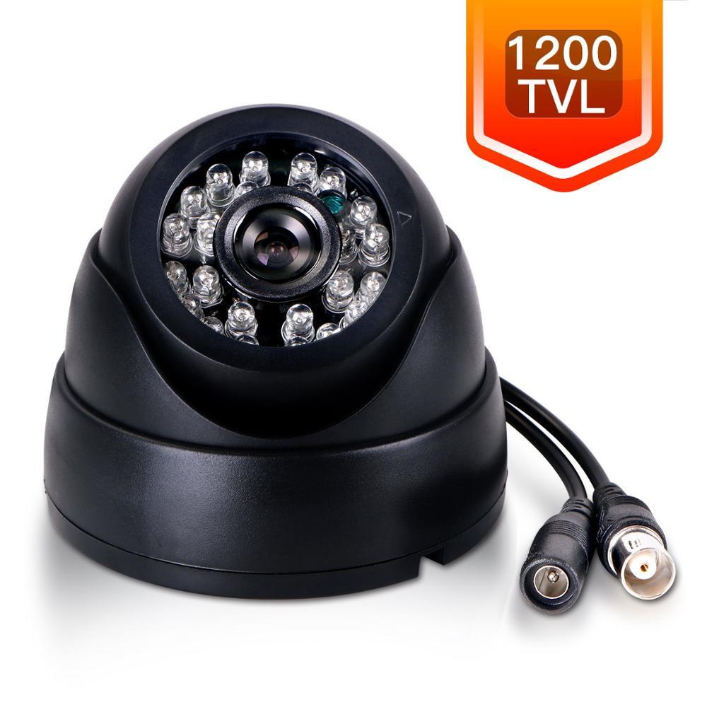 imágenes para Gran angular sony ccd 600tvl 24 ir led cámara de interior de la bóveda CCTV COMS 1200TVL IR-CUT 1.8mm Lente de 170 Grados 960 P AHD Seguridad cámaras