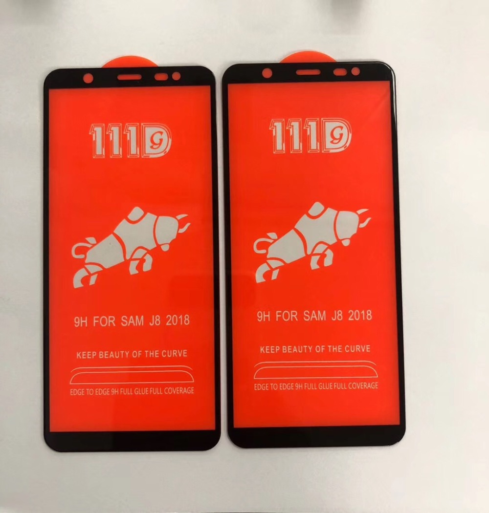 50pcs DHL 111D Full Cover Tempered Glass For Samsung Galaxy S10E M20 M30 M10 A7 A9