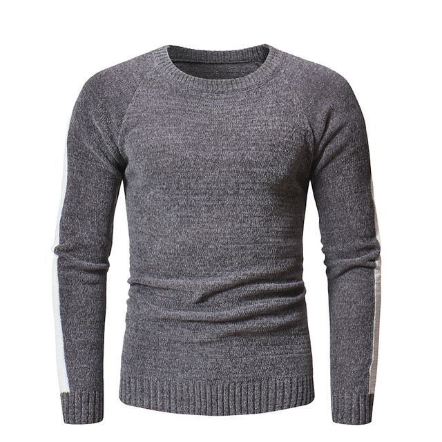 Sweater Pullover Men 2018 Male Brand Casual Slim Men White Stripes Sweater Knitted Sweater Hedging O-Neck Men'S Sweater