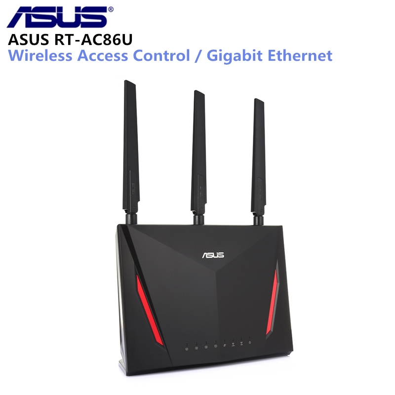 ASUS RT-AC86U 2900Mbps Wireless Wifi Router Dual Core 512MB RAM 256MB ROM 1.8G Wireless AC/G/N Wifi Router With Antennas asus rt ac88u wireless router