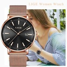 купить LIGE Women's Watches Top Luxury Brand 2019 New Simple Casual Quartz Watch Women Fashion Waterproof Ladies Clock Relogio Feminino дешево