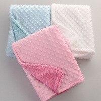 Soft Baby Stroller Blanket Double Pressed Carpet Leisure Air Conditioning Blanket Newborn Thermal Soft Fleece Blanket