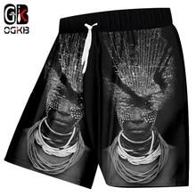 Shorts da Praia Dos Homens Engraçado Impressão OGKB Africano Senhora Com  Colar 3d Boardshorts Masculinos Hiphop 852a0b8888c16
