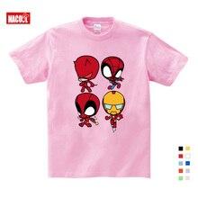 2019 T-shirt Superman/Batman/spider Man/captain America /Hulk/Iron Man / T Shirt Boy Girls Printing 3T-9T