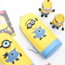 new pencil bag pencil case cute minions waterproof school supply kidspencil