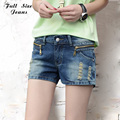Plus Size Zipper Pockets Shorts 5XL Tamanho Grande Sexy Ripped Mini Denim Curto Femme Jean Super Shorts Hotpants Curtas 4XL S Xxxl 6Xl