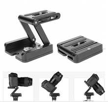 All-metal Z-folding pan/tilt Desktop tripod gimbal  quick release plate folding Z-shaped PTZ head