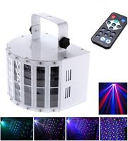 6 Channel RGBW Dmx512 LED Mini Butterfly Stage Light Effect Voice activated Automatic Control LED Flash Laser Light DHL Free
