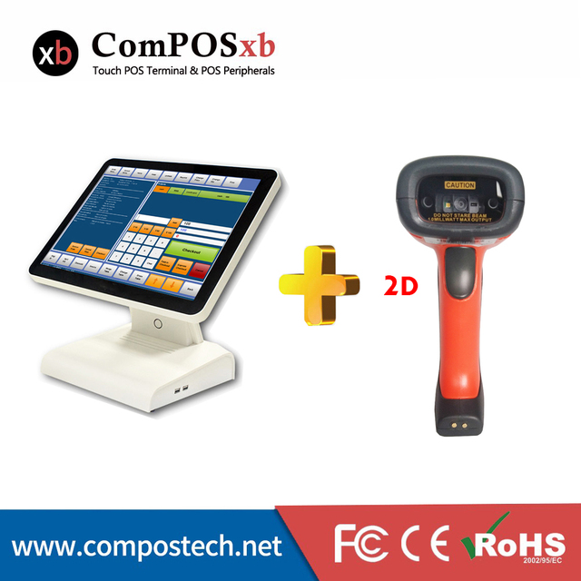 Flash Promo Supermarket Pos System Pc Monitor Quad Core Hight Speed Cash register Epos Pos Terminal For Retail Shop POS1619 With RQ Scanner