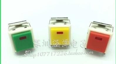 100 PCS LOT free shipping KD2 21 light 8 feet square Illuminated 3V button