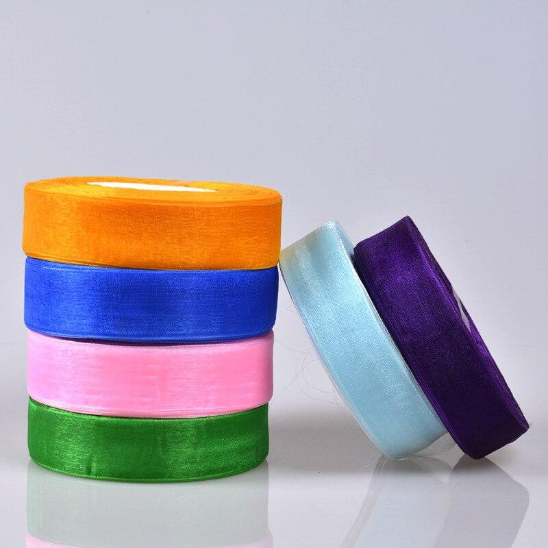 20 мм 45 м MeeTee органзы ленты одежда Вышивание ткань подарочная упаковка «Сделай сам» Свадебные украшения вечерние ленты партия AP2144