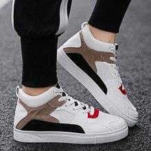 fa4290b22 2018 Nova Moda Calçados Casuais dos homens Hong Kong Estilo Coreano Sapatos  Brancos Selvagens dos homens
