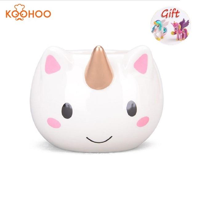 Koohoo 3D Unicorn Tazza Tazza di Ceramica Tazza di Caffè Della Ragazza Dei Bambi