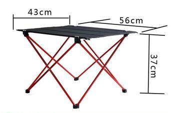 Przenośny stół piknikowy stoliki na świeżym powietrzu ze stopu aluminium składane ogród biurko tanie i dobre opinie Meble ogrodowe Na zewnątrz tabeli 56*42*37cm K1017A Prostokąt Nowoczesne Montaż Minimalistyczny nowoczesny NoEnName_Null