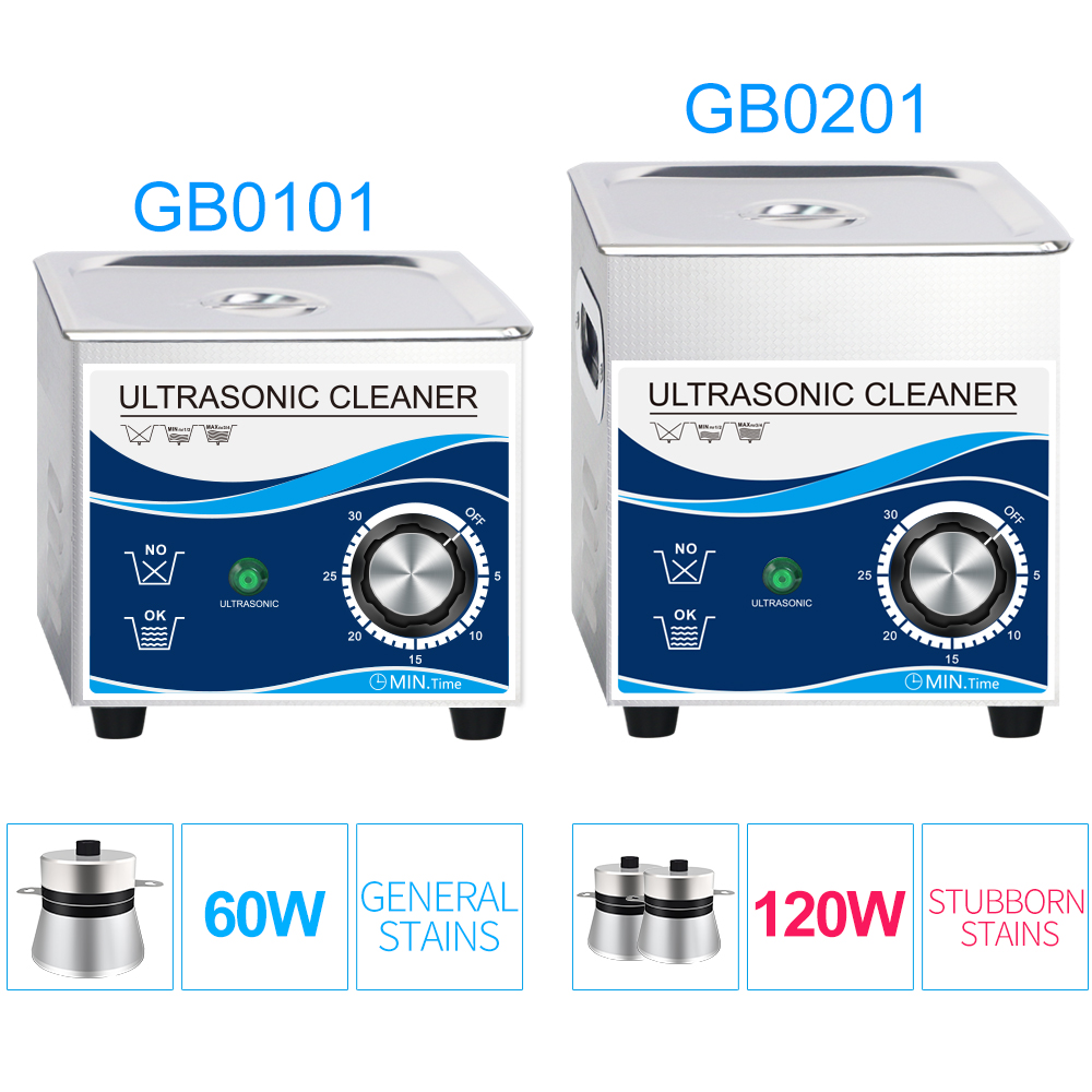 1.3L Stainless Steel Bath Ultrasonic Cleaner 120W Mechanical Timer Piezoelectric Transducer Hardware Glasses Spark Plug Circuit