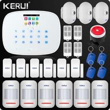 W193 alarme 3g 4g gsm wifi pstn casa sistema de alarme do assaltante lcd gsm sms painel de alarme de segurança em casa sistema de alarme