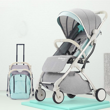 Lightweight folding baby stroller can sit can lie can on the plain baby carriages silla de paseo can can the singles