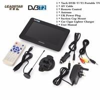 LEADSTAR 7 Inch Portable Digital HD TV Digital Analog Television Receiver Antenna DVB T2 TV Support
