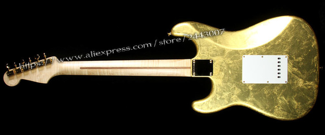 GC Custom Shop Todd Krause Master Built Eric Clapton Electric Guitar Gold Leaf - Right or Left-Handed? 2