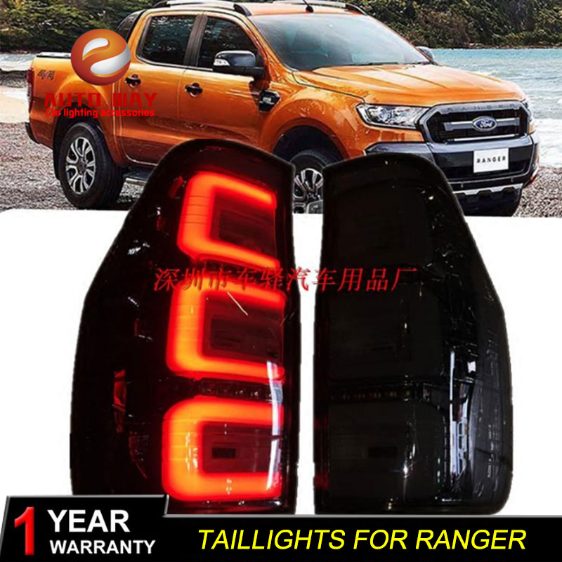 Car Styling Tail Lamp case for Ford Ranger Tail Lights LED Tail Light Rear Lamp LED taillights Ford Ranger tailight