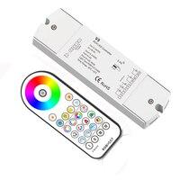 New Led RGB +CCT Strip Controller 2.4G RF Remote Wireless 4A*5CH Output DC12V-24V 1 zone RGB CCT Led Strip Controller V5+R23