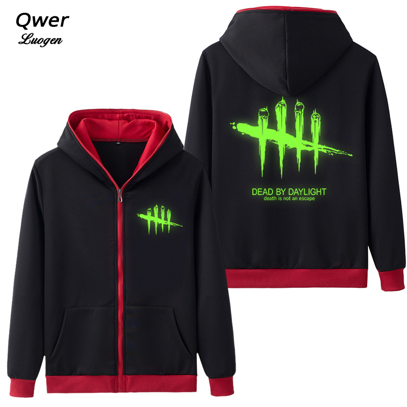 Game Dead By Daylight Logo Mens Hoodies Cosplay Coat Clothing Casual Hoodie Luminous Unisex Jacket Sweatshirt