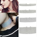 Hearts Q Jewelry Trendy Jewelry Rhinestone Choker Classic Style Shining Imitated Diamond Women Elegance Chain Choker Necklace