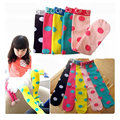 Child long zorro Polka Dot Cotton no heel high tights kniee kousen baby meisje girls cotton tights in cotton children stockings