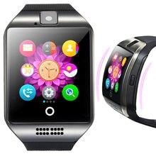 Купить с кэшбэком Relogio Q18 Smartwatch For Android Phones Support Sim TF Phone Call Push Message Camera Bluetooth Connectivity Sport Smart Watch