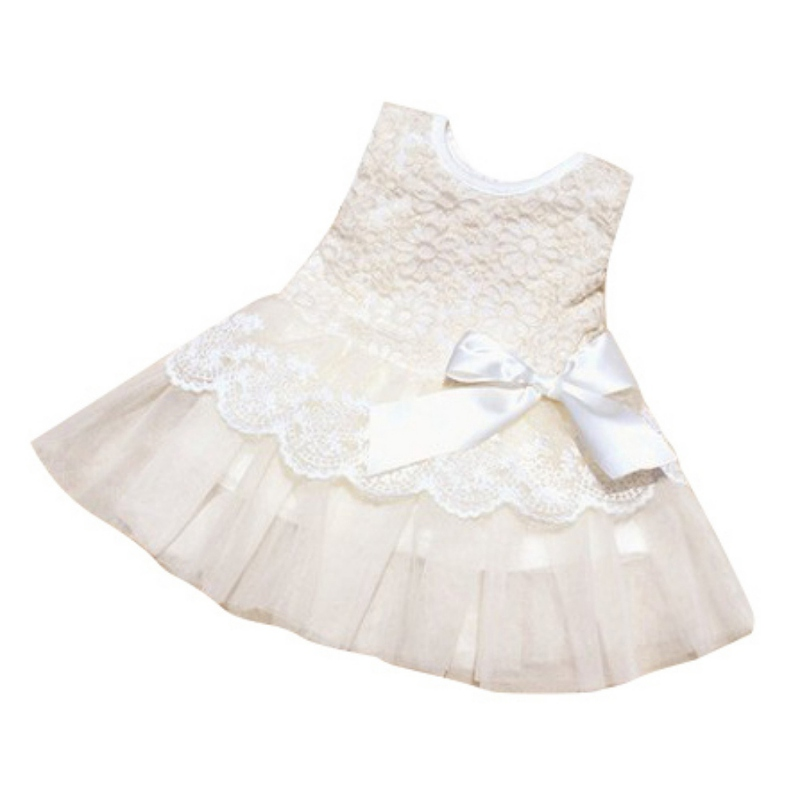 Princess Dresses Summer Baby Girl Dress Lace Sleeveless Vestidos Kids Flower Party Dress For Baby Girl Clothes