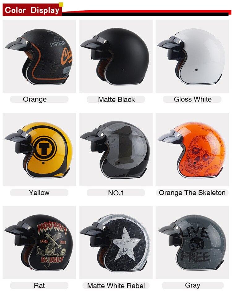 Torc casco capacete do vintage t57 moto