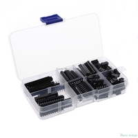 For 66Pcs\/set DIP IC Sockets Adaptor Solder Type Socket Kit 6 8 14 16 18 20 24 28 Pins Promotion