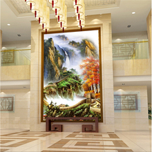 beibehang Large model custom wallpaper painting thousands of miles of the Great Wall red maple landscape painting