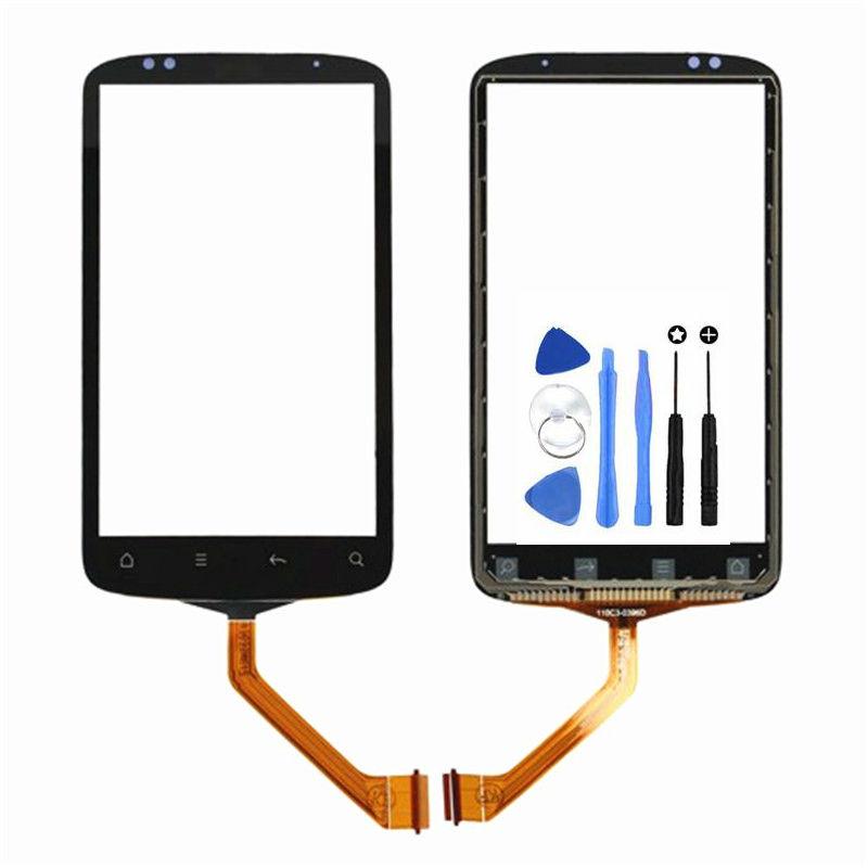 Ponsel Panel Depan Hitam untuk HTC Desire S S510E G12 Sentuh Layar Digitizer (Bebas + 3 M Tape + Membuka Alat Perbaikan + Lem)