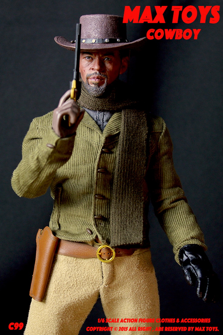 1/6 scale figure doll clothes with head for 12 Action figure doll accessories,COWBOY clothing Django Unchained Jamie Foxx cook with jamie