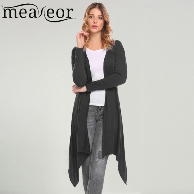 Meaneor Women Cardigan Casual 2018 Spring Thin Long Sleeve Solid