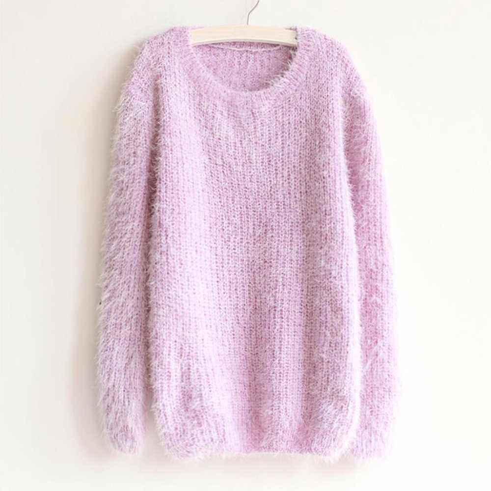 2019 New Fashion Autumn Winter Women Sweater   O-Neck Women Pullover Long Sleeve Casual Loose Sweater Knitted Tops