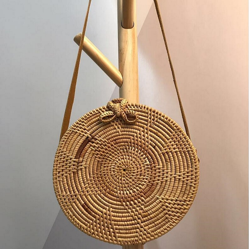 hand made Straw Rattan Handbags knitting leather round vintage collection box Straw Butterfly women Rattan Messenger bag travel vm fashion kiss european and american leisure straw bags vintage beach bag for women rattan handbags travel tote lunch hand bag
