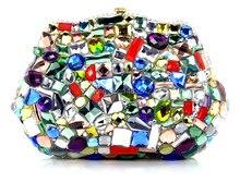 YU18-2 Kristall Abendtasche Clutch Pfau diamant pochette soiree Frauen abend handtasche hochzeit clutch tasche