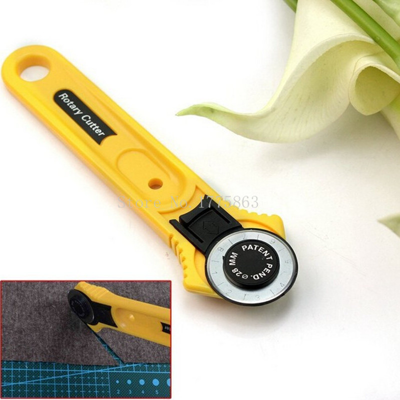 28mm Sewing Accessories Fabric Cutter Leather Craft Circular Cut Rotary Cutter Blade DIY Sewing <font><b>Tools</b></font> <font><b>for</b></font> <font><b>Patchwork</b></font> AA7761 image