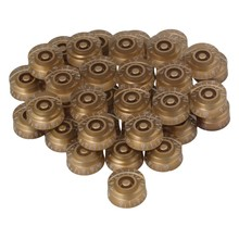 Yibuy 40x Speed Control Knobs Gold with White Number for Electric Guitar