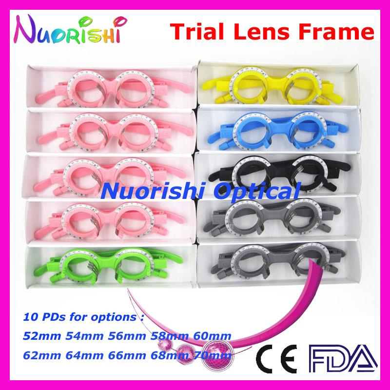 XD15 5pcs a lot Economy Colorful Fixed PD Distance Optometry Ophthalmic Plastic Trial Lens Frame Lowest Shipping Costs