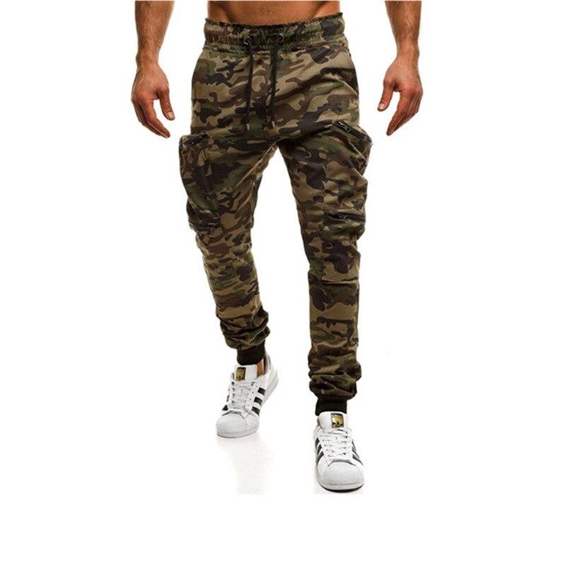 2019 New Stylish Hot Sale Men Camouflage Pocket Overalls Side Pocket Sport Work Trouser Pants Neu Anziehen Herrenbekleidung