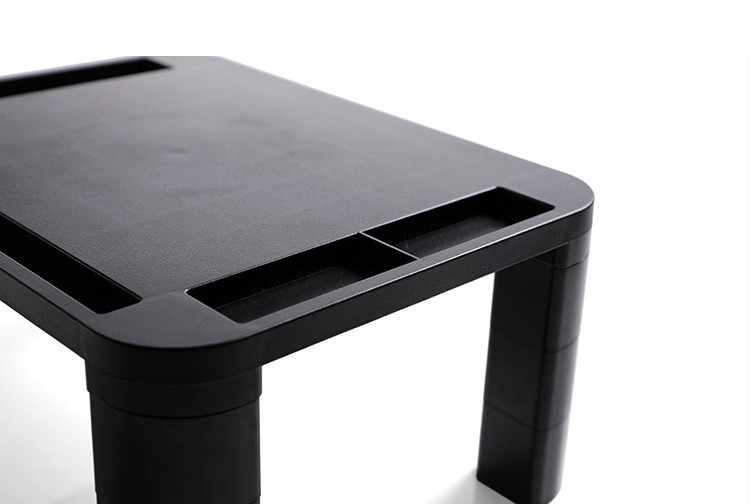 調整可能なデスクトップモニタースタンドコンピュータ画面ライザープラスチック棚台座強力なラップトップスタンドデスクホルダーノートブックテレビ
