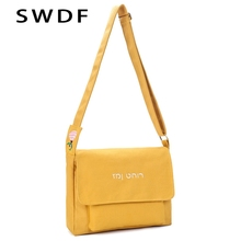 SWDF High Capacity Women Canvas Tote Ladies Casual Solid Color Shoulder Bag Foldable Reusable Women Shopping Beach Bag Purse Sac casual canvas and color block design women s tote bag