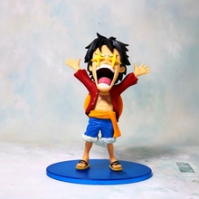 One Piece Anime Monkey D Luffy PVC Action Figure Toys Stars Eyes Red Clothes WCF Juguete Brinquedos Portgas D Ace Figurines Hot стоимость